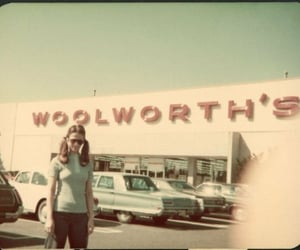 parking lot and woolworths image