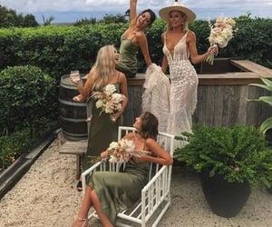 hunter green, bridesmaid dresses, and bridals image