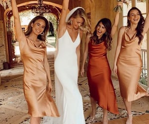 party dress, bridesmaid dresses, and bridals image
