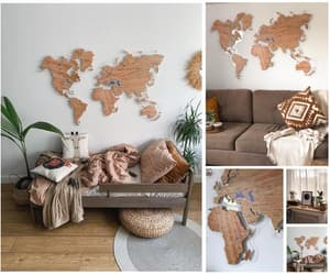 etsy, world map art, and home decor image