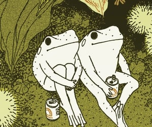 aesthetic, moodboard, and frogs image