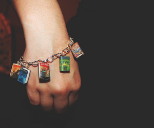 bracelet, color, and harry potter image