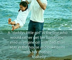 dad, daughter, and quotes image