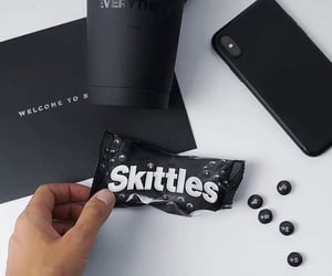 black, drink, and skittles image