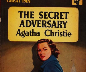 agatha christie, the secret adversary, and book image