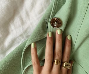 green, nails, and aesthetic image