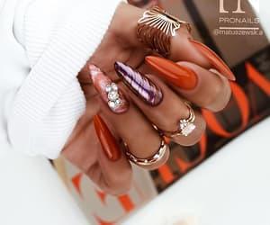 beautiful, nail art, and glamorous image