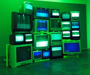90s, green, and television image
