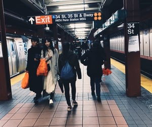 commute, people, and subway image