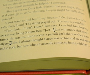 book, john green, and page image