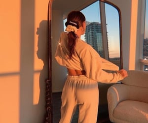 fashion, girl, and golden hour image