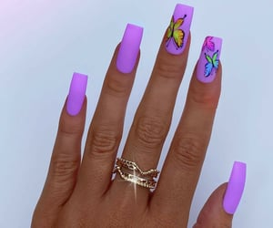 beauty, butterfly, and nails image