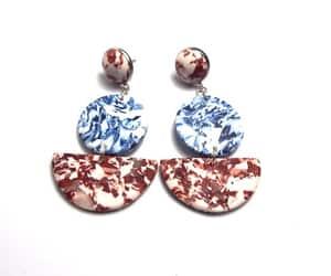etsy, statement earrings, and drop earrings image