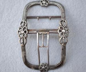 Antique Silver Tone Belt Buckle Art Nouveau image 0