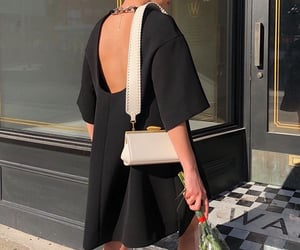 backless dress, little black dress, and summer vibes image