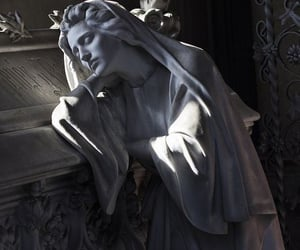 sculpture, statue, and cemetery image