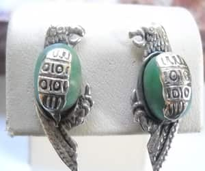 etsy, jade earrings, and parrot earrings image