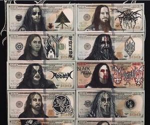 666, dollars, and baphomet image