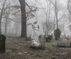 cemetery, dark, and grunge image