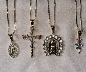 cross, jewelry, and necklaces image