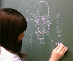 anime, japan, and school image