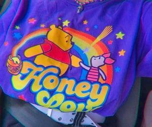 winnie the pooh, honey, and purple image