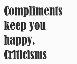 compliment, vs, and criticize image