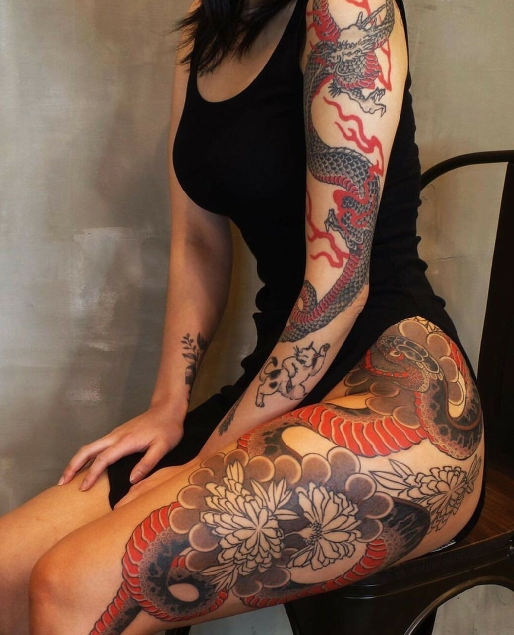 tattoo, body, and girl image