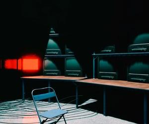 control, tv, and dark image