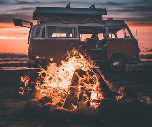 sunset and van image