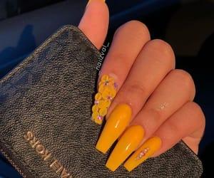 nails, flowers, and orange image