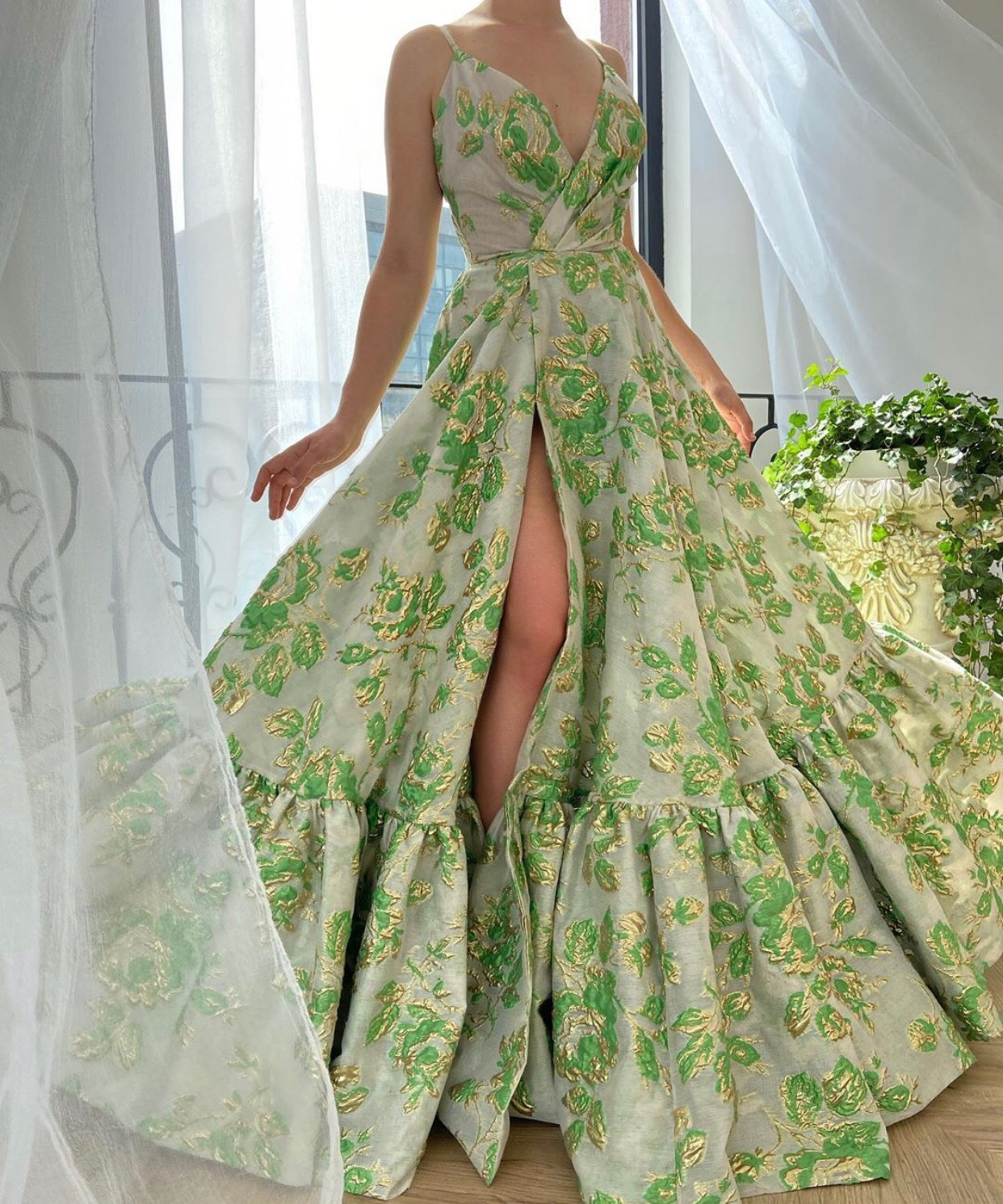 green, dress, and fashion image