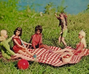 60s, barbie dolls, and 70s image