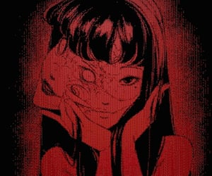 anime, red, and aesthetic image