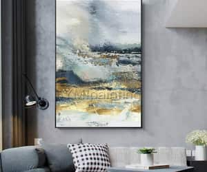 Abstract Painting, Gold Leaf, and original painting image