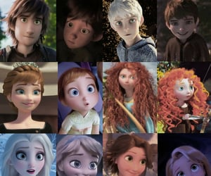 anna, pixar, and brave image