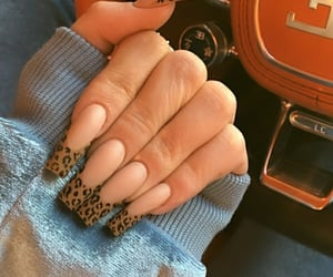 nails, frenchnails, and kyliejenner image