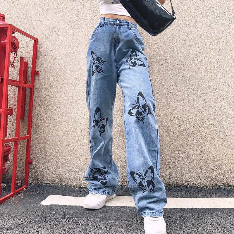 street fashion, streetstyle, and denim pants image