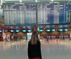 airport, girl, and summer image