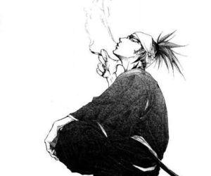 black and white, bleach, and manga image