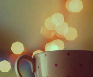 cup, bokeh, and light image