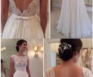 wedding gown, vestido de novia, and wedding dresses for bride image