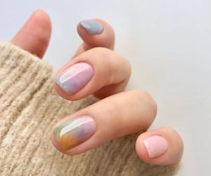 colorful, glossy, and nails image
