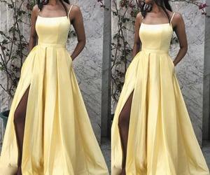 vestidos de fiesta, cheap prom dresses, and yellow prom dresses image