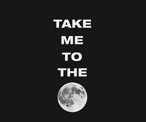 moon, text, and quote image