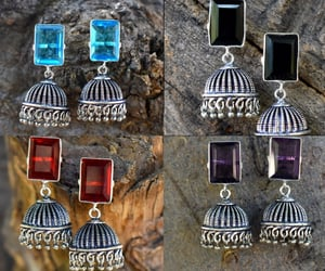 etsy, silver jewellery, and indian earrings image