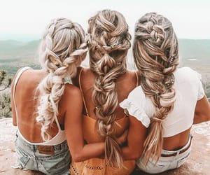 girl, hair, and braids image