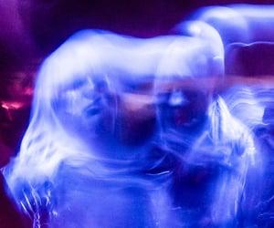 blurry, cyberpunk, and futuristic image