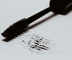mascara, black, and make up image