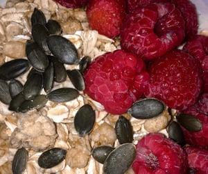 breakfast, healthy, and raspberry image